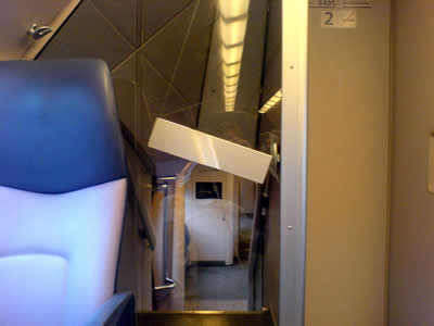 interior of a dutch double decker train